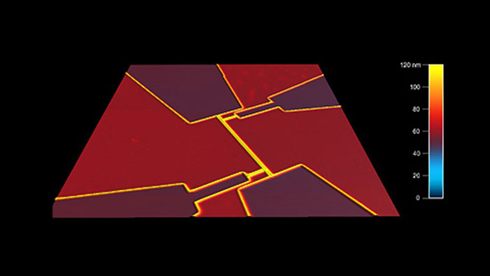 Superconducting quantum device, taken with Tap300Al-G AFM probes on an Asylum MFP-3D AFM.