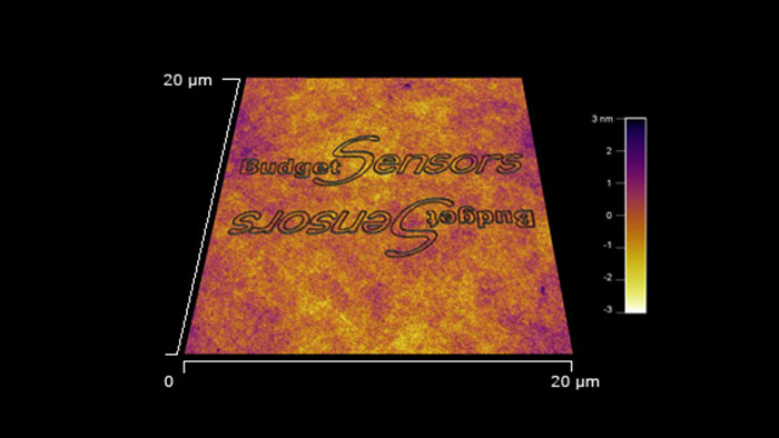 Taken with a Tap300Al-G AFM probe and an Asylum MFP 3D AFM system